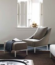 contemporary armchair with footstool by Antonio Citterio JEAN B Italia