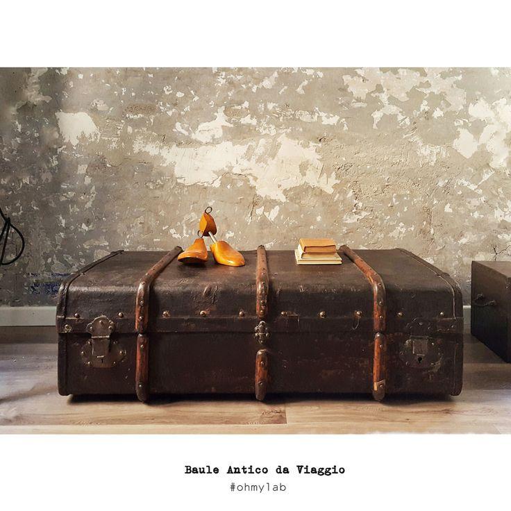 Antico Baule da Viaggio primi del 900 adatto come di OhMyLab #oldtrunk #bauledaviaggio #travel #baule #vintage