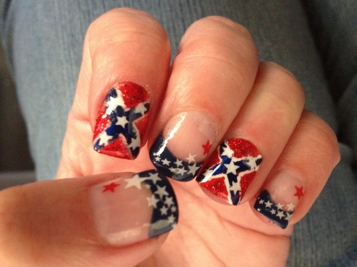 View Images Rebel flag nails ... - Acrylic Nail Designs Rebel Flag ~ Rebel Flags Hair Makeup Nails