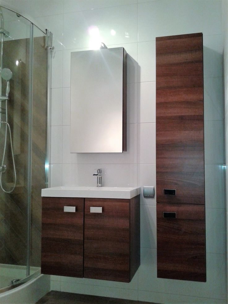 after/bathroom in earth tones is perfect for the small interior