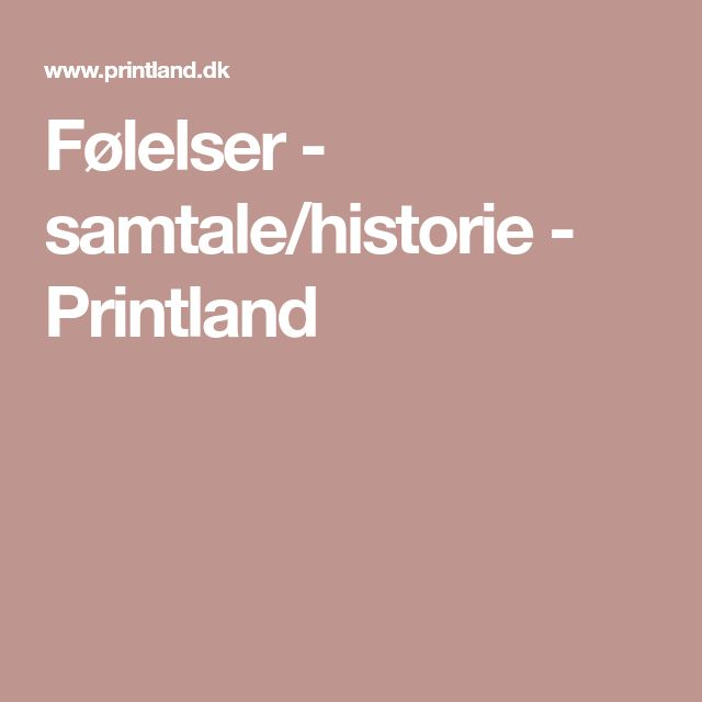 Følelser – samtale/historie – Printland – Helga Magnússon