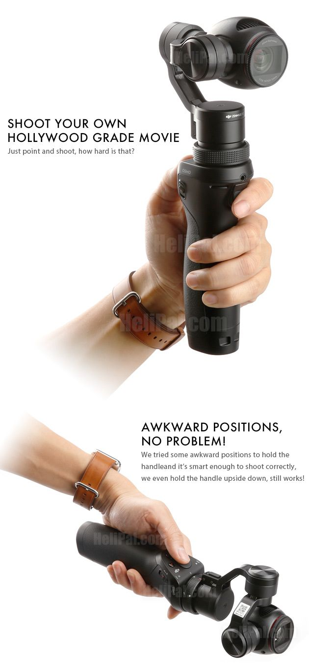 Reimagine Movement! Introducing DJI OSMO, the handheld 4K Camera on 3-Axis Gimbal Motion without blur. Action shots without shake. Perfect video even when you move. Thanks to advanced technologies specifically designe
