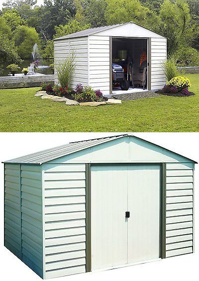Garden and Storage Sheds 139956: Arrow Milford Vinyl Coated Steel Shed 10 X 12 With 66 Wall Height With Doors -> BUY IT NOW ONLY: $699.99 on eBay!