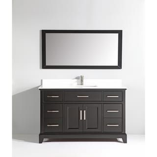 Vanity Art 60 Single Sink Bathroom Vanity Set Super White Phoenix
