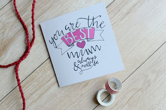 Mother's Day Papercut card - You Are The Best Mum - Papercut Card - Papercut Typography - Card For Her - Card For Mum - Greetings Card