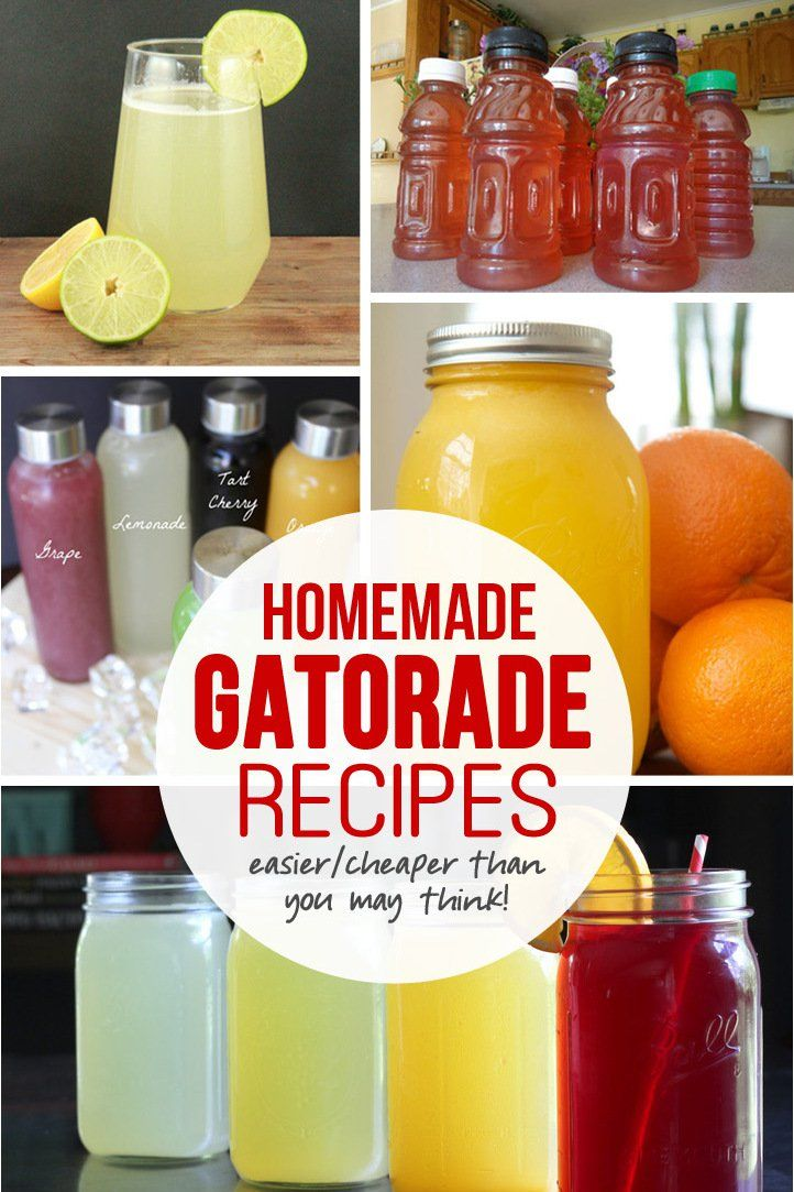 Homemade gatorade recipes!