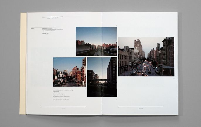 Nice editorial publication layout. Great portfolio layout with multiple photos. Clean. Nice use of white space.