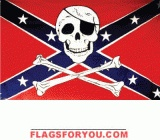 Rebel Skull Flag 3x5 - 1 left