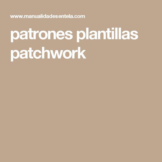 patrones plantillas patchwork