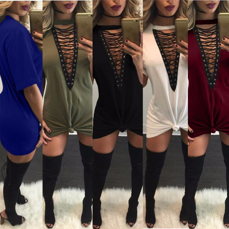 Sexy  Lace Up Half Sleeves Bodycon Dress //Price: $0.00 & FREE Shipping //     #makeup #fashionable #model