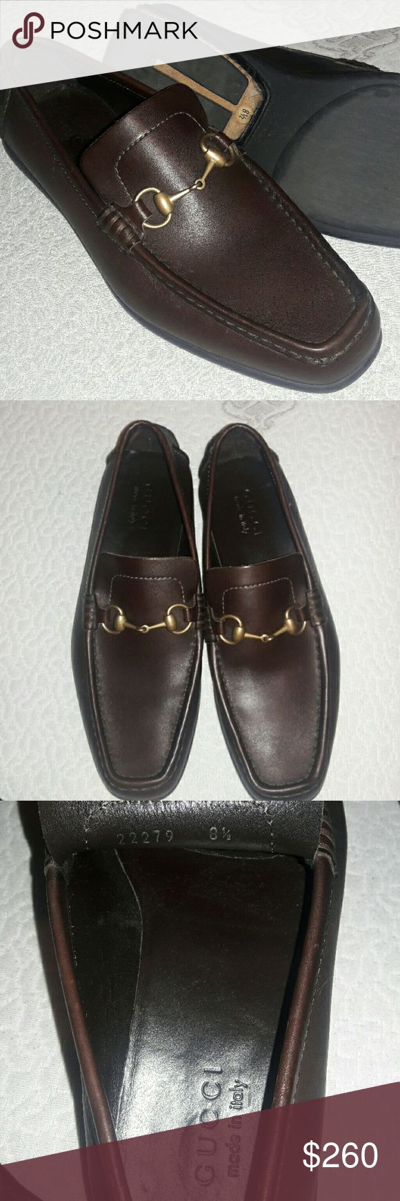 Authentic guccishoes mens made in italy 8.5us size Gucci shoes open box no used looks like new Gucci Shoes Loafers & Slip-Ons