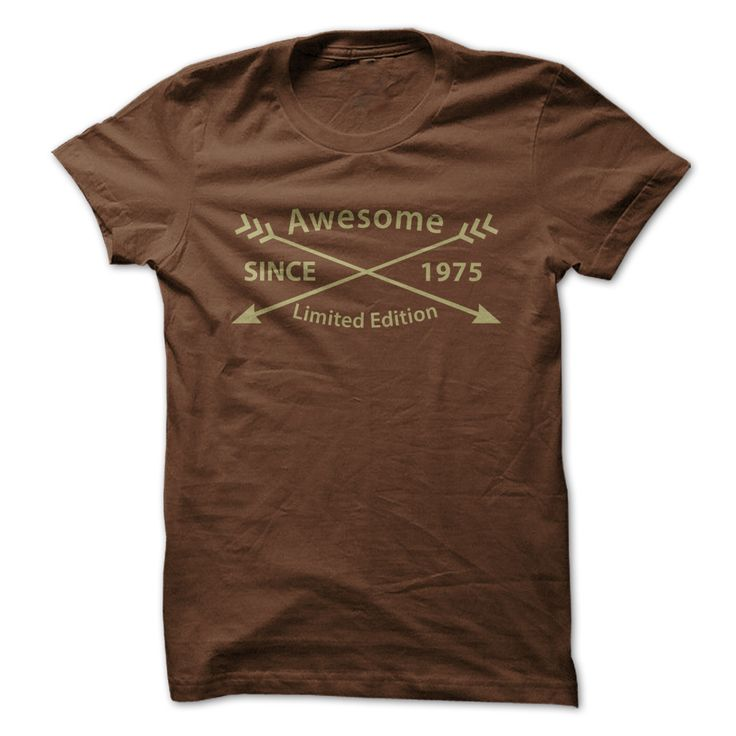 Awesome Since 1975 Limited Edition T-shirt. 1975 Band Shirt The 1975 Band T Shirts The 1975 T Shirt Womens The 1975 Tee Shirt 1975 Shirts The 1975 Tour T Shirt Vintage 1975 T Shirt. #birthday #1975 . http://tshirts.salalo.com/2016/03/awesome-since-1975-limited-edition-t-shirts.html