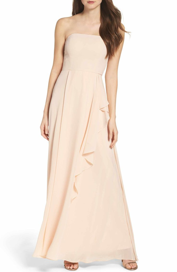 Main Image - Lulus Chiffon Strapless Maxi Dress