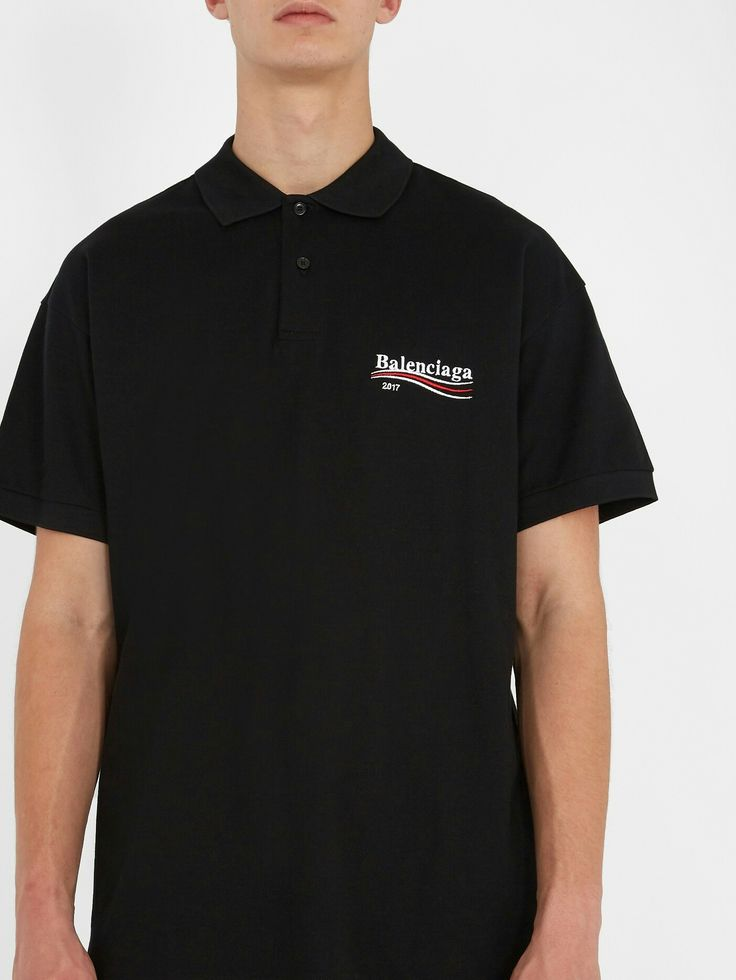 BALENCIAGA  Logo-embroidered cotton-piqué polo shirt  £275