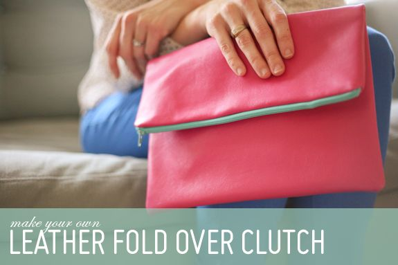 DIY: Leather Fold Over Clutch | Say Yes to Hoboken