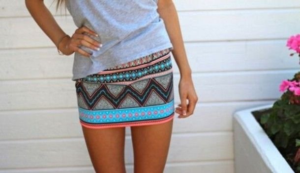 skirt with a plain tee