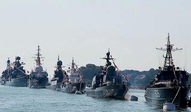 Парад ВМФ в Питере  2017