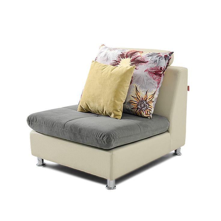 Большое мягкое кресло серого цвета без подлокотников с подушками в комплектации можно купить в интернет-магазине https://lafred.ru/catalog/catalog/detail/41283083551/