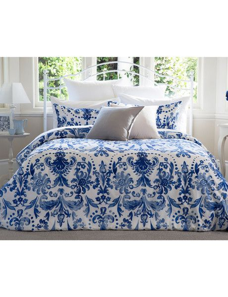 Transfer your bedroom with the Gracious Living Beatriz duvet cover set. It…