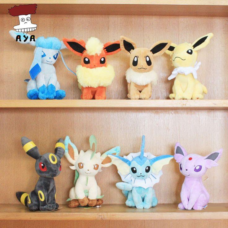 """Pokemon Plush Toys 7"""" Sitting Umbreon Eevee Espeon Jolteon Vaporeon Flareon Glaceon Leafeon Plush Doll Kids Toys For Children"""