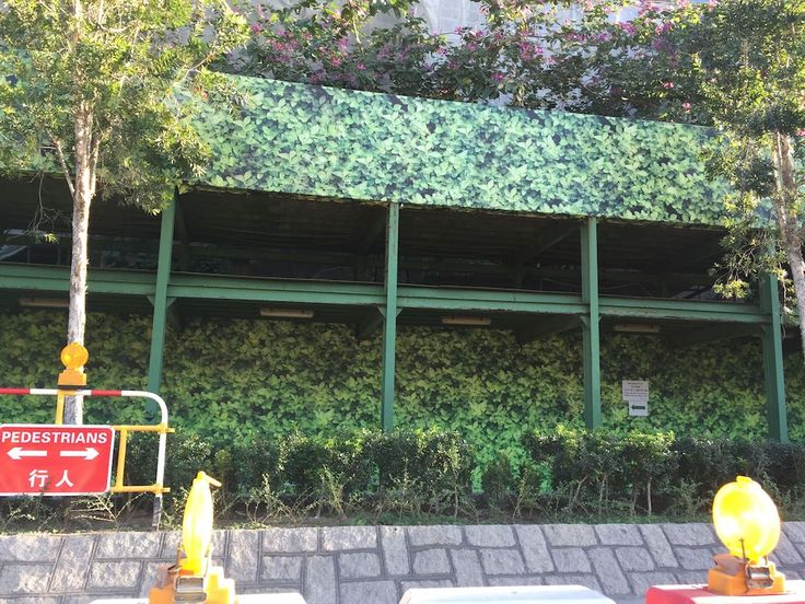 Interesting Fake Living Wall To Screen Off Building Work In Hong Kong
