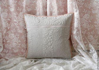 Текстиль, ковры ручной работы. Подушка.. журавлик. Ярмарка Мастеров. Подушка на диван, шебби шик