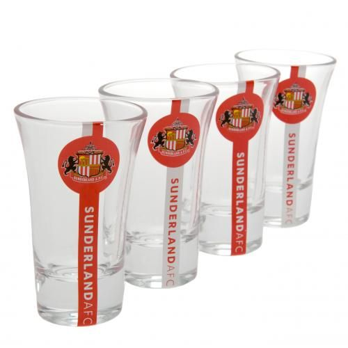 - set of 4 shot glasses- approx 9cm tall- in a display card- official licensed product