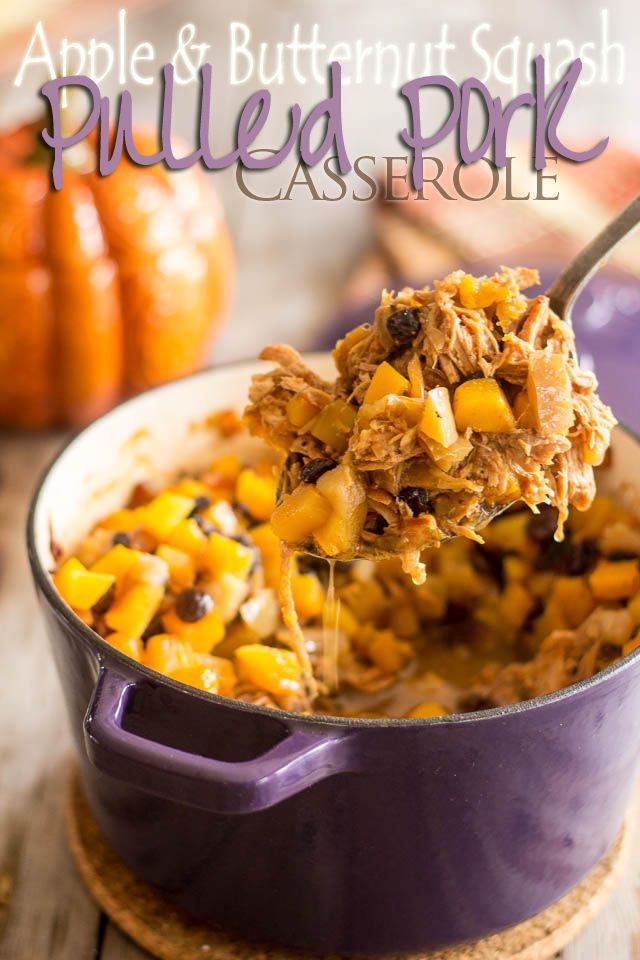 Apple Squash Pulled Pork Casserole | by Sonia! The Healthy Foodie  … I think i can make this AIP friendly