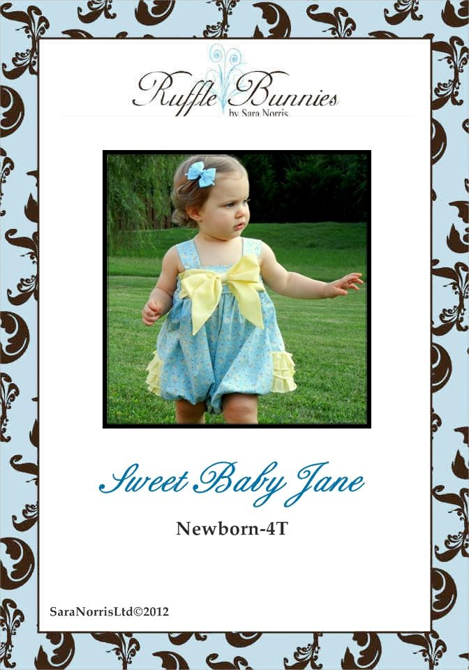 6th Pattern I selected from my giveaway win  Sweet Baby Jane sunsuit pattern epattern