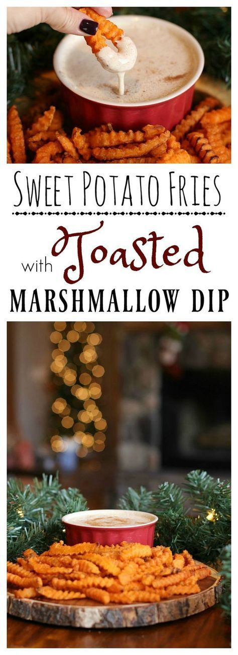 Looking for a dish that will leave everyone feeling merry?  Try our easy Toasted Marshmallow Dip paired with McCain Sweet Potato Fries! #JoyintheKitchen #ad