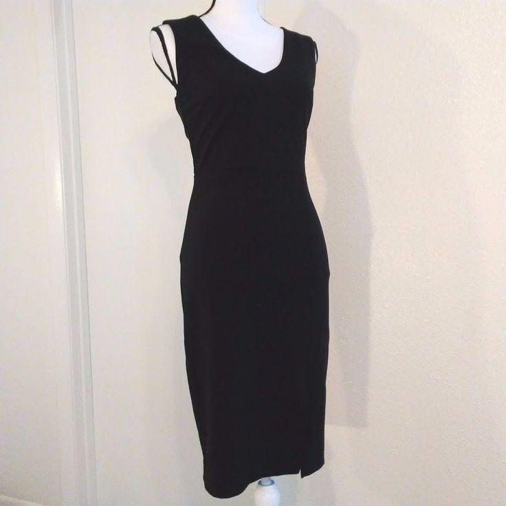 Adelyn Rae Dress Size XS Bodycon Black Side Slit Sleeveless Little Black Dress | Clothing, Shoes & Accessories, Women's Clothing, Dresses | eBay!