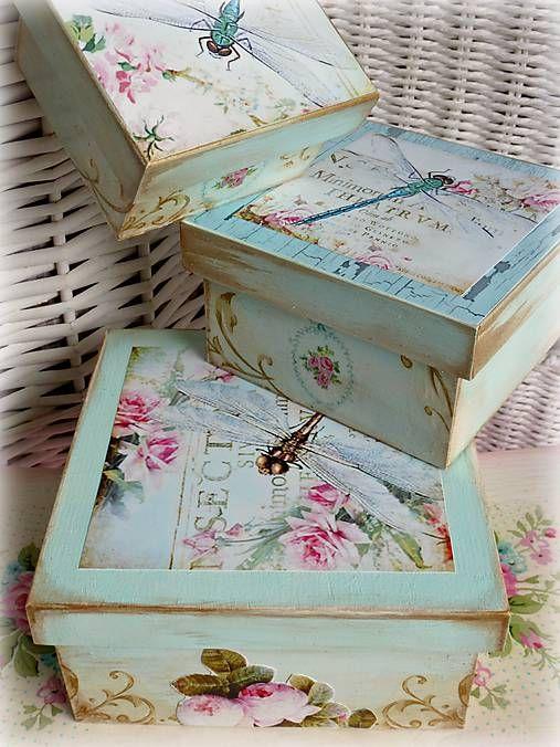 Alice-in-wonderland / Vintage dragonfly krabičky