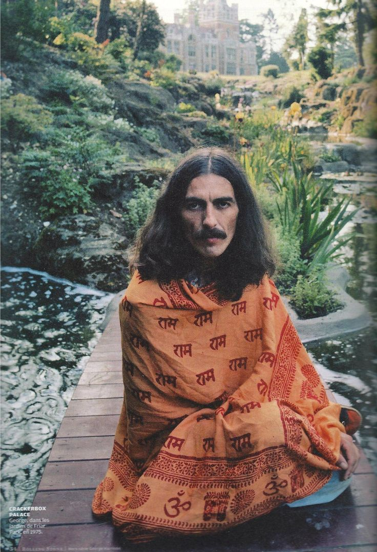 "George Harrison, 1975, India. Still a very common type of wrap (it says ""Ram Ram"")"