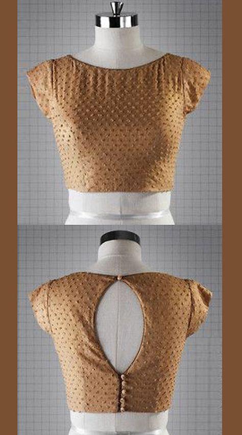 Trendy Beige Premium Fabric Designer Blouse For Saree BP1809
