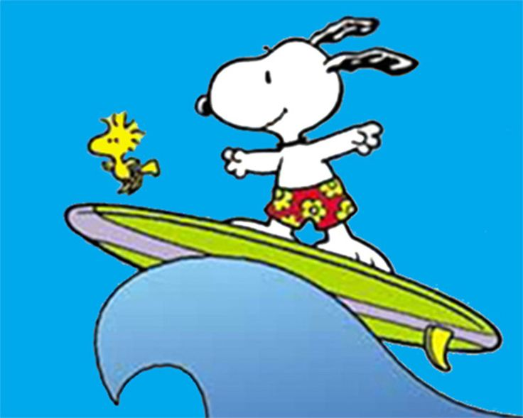Snoopy surfing: Snoopy surfing