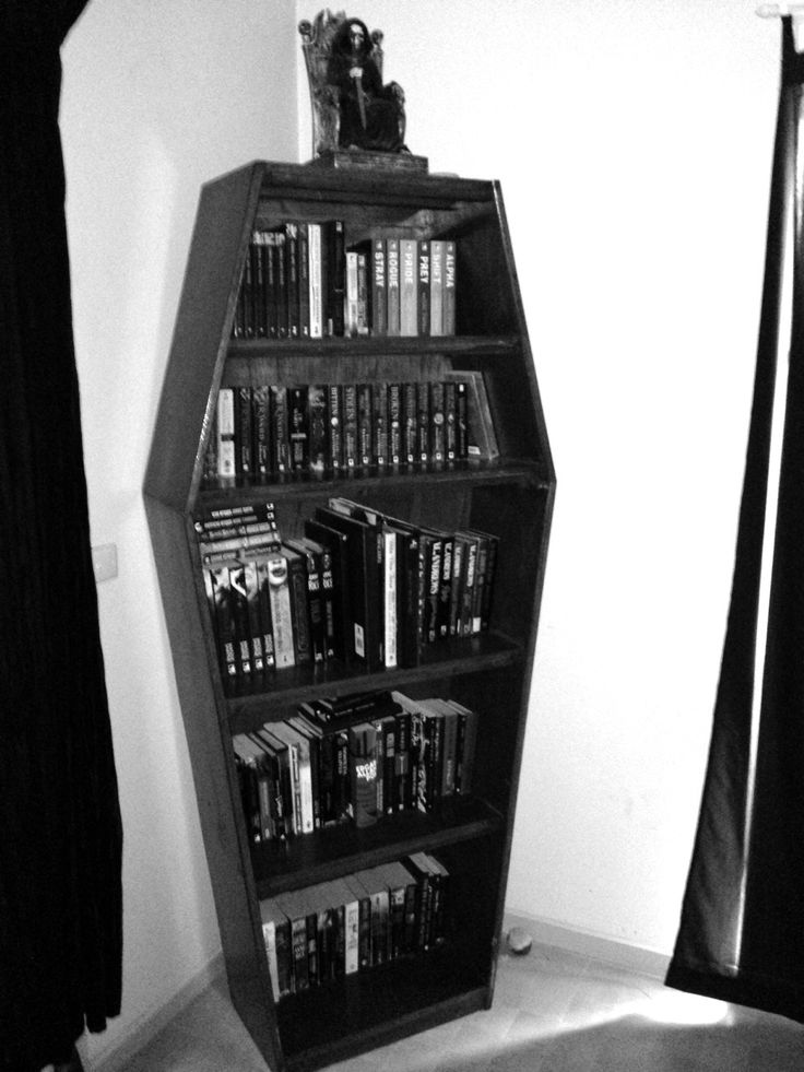 *just idea, no tutorial* coffin bookshelf