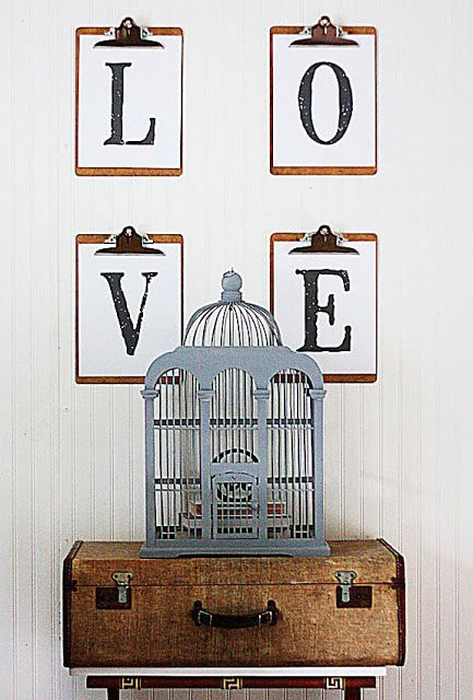 The Shabby Creek Cottage | Decorating | Craft Ideas | DIY: 20 ways to make your own wall art