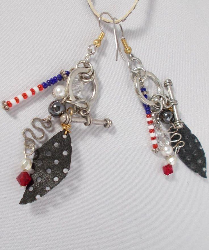 BOGO Patriotic Dangle Artisan Earrings #JNorahz #Wrap