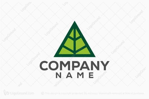 Logo for sale: Triangle Leaf Logo