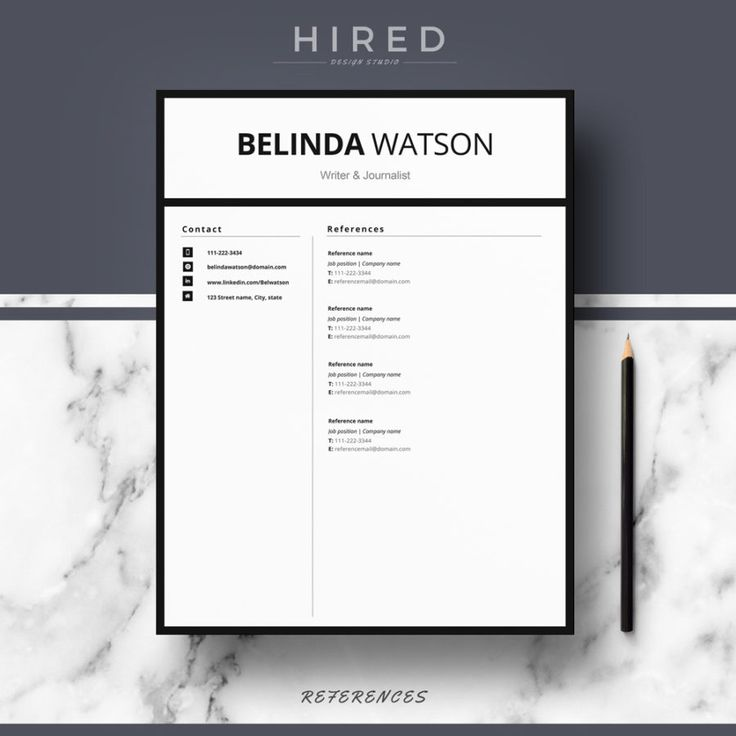 19 best Minimalist Resume \/ CV Templates images on Pinterest - microsoft word reference template