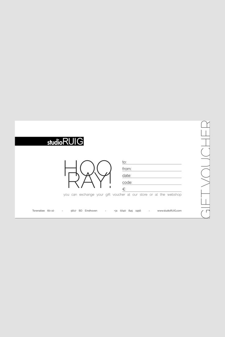 gift certificate examples
