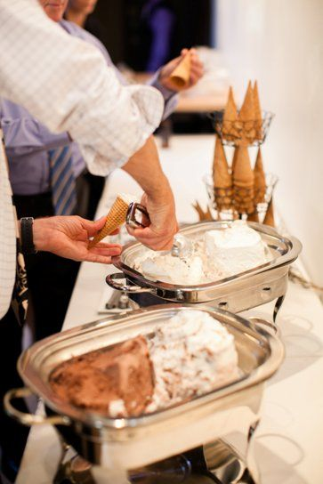 reception fancy ice cream bar - definitely doing this to go along with my cupcakes