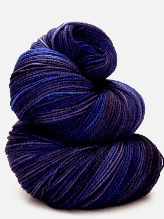 Yarn : Twisted MCN Sock Yarn in Galaxy. Hand dyed yarn from Sunrise Fiber Co.