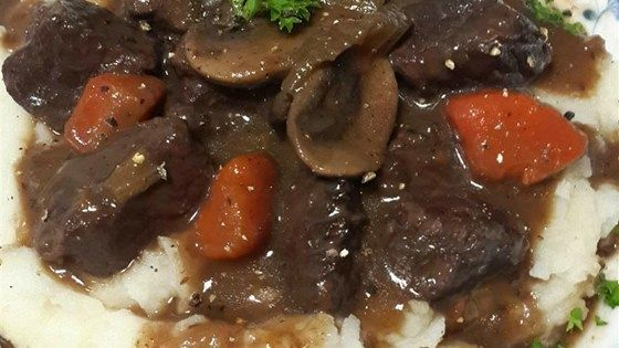 Enjoy all the flavor of traditional beef bourguignon but without the steep price by using Merlot to stew the beef.
