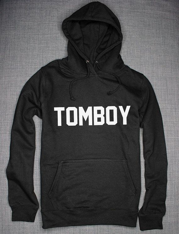 Tomboy Girls Hipster Hoodie by ResilienceStreetwear on Etsy