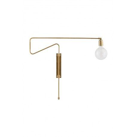 <p>Lámpara pared OroBlues es una lámpara aplique de pared para los amantes del oro.</p> <p>Hermosa Lámpara de pared de latón agradable a la vista. Se hace un elemento imprescindible en la decoración. La lámpara ideal para usar en el dormitorio o sala de estar.</p> <p>El producto está hecho de hierro y latón y un acabado en oro que marcará la tendencia de tu decoración. Su inusual y estética forma combinada con el acabado oro consiguen fusionar ambos a...