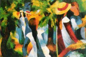 Girls under the Trees August Macke