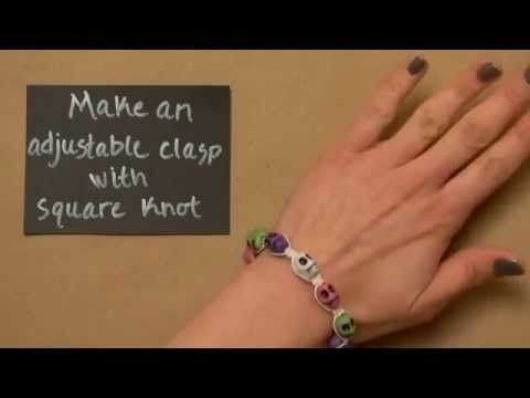Make Square Knot  Adjustable Clasp for bracelets - YouTube I can watch this over and over again, love the music!!!!!
