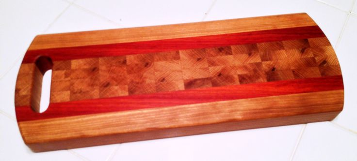 Wood Species: Cherry, Padauk, End-Grain Red Oak