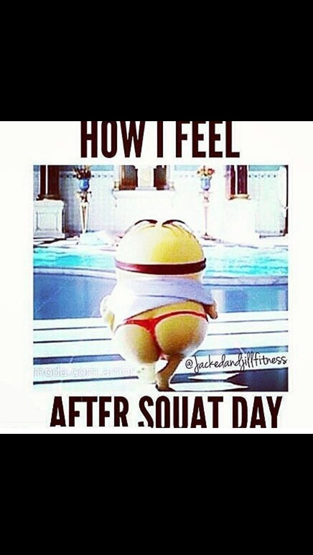I know its inappropriate, but i just had to. Squats....minion gym humor